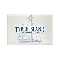 Tybee Island - Rectangle Magnet