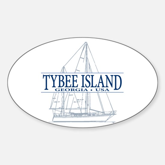 Tybee Island - Sticker (Oval)