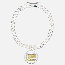 Childhood Cancer HeavenN Charm Bracelet, One Charm