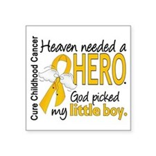 "Childhood Cancer HeavenNeed Square Sticker 3"" x 3"""