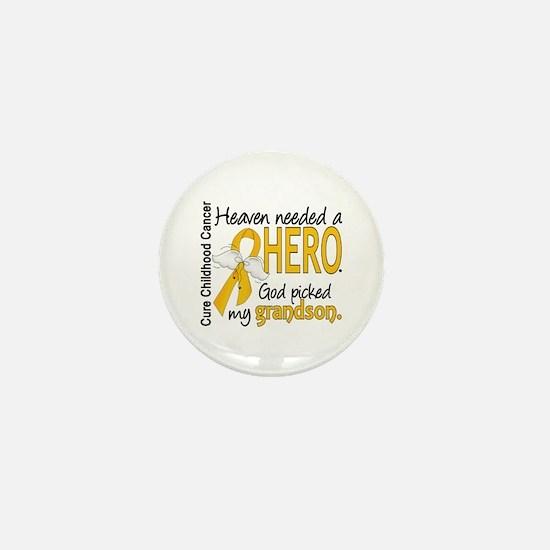 Childhood Cancer HeavenNeededHero1 Mini Button