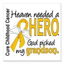 "Childhood Cancer HeavenN Square Car Magnet 3"" x 3"""