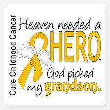 "Childhood Cancer HeavenN Square Car Magnet 3"" x 3"""