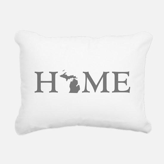 Michigan Home Rectangular Canvas Pillow