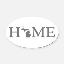 Michigan Home Oval Car Magnet