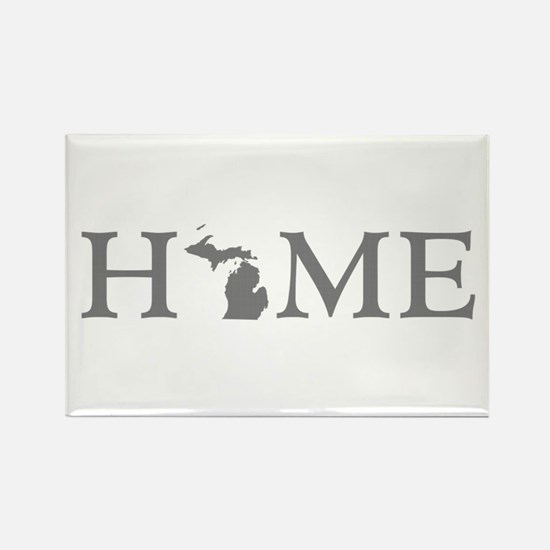 Michigan Home Rectangle Magnet