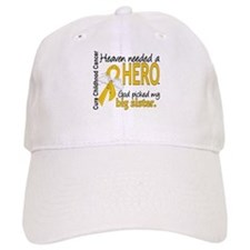 Childhood Cancer HeavenNeededHero1 Baseball Cap