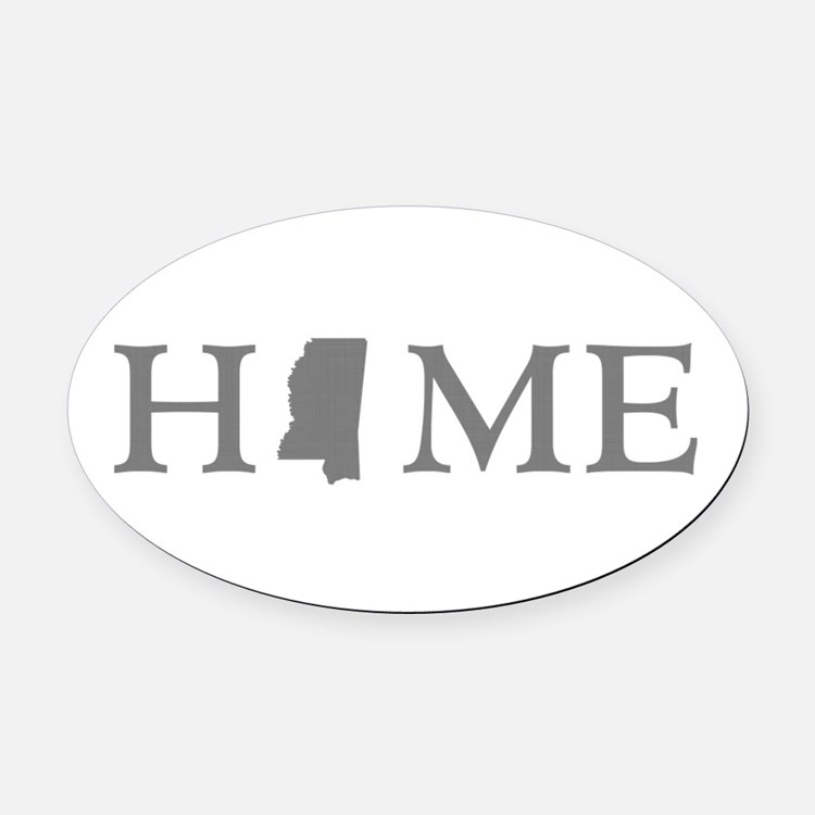 Mississippi Home Oval Car Magnet