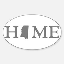 Mississippi Home Sticker (Oval)