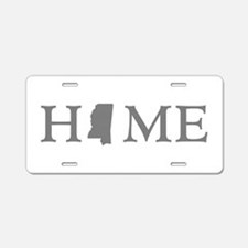 Mississippi Home Aluminum License Plate
