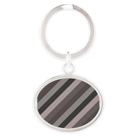 Grey Striped Keychains