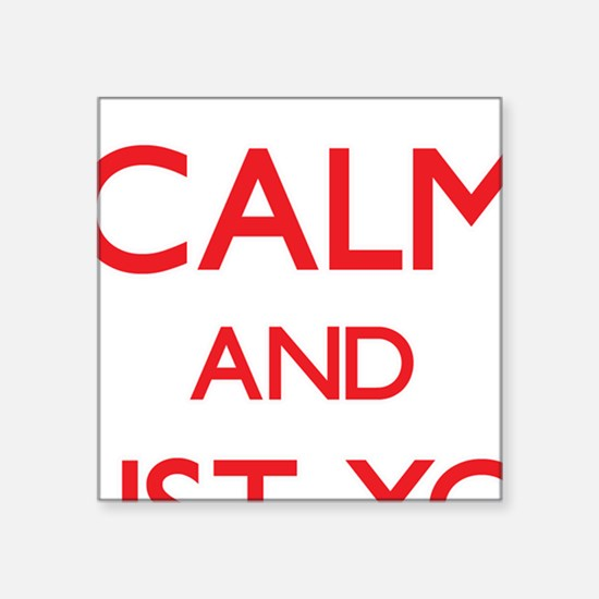 Keep Calm and trust your Studio Manager Sticker