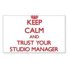Keep Calm and trust your Studio Manager Decal