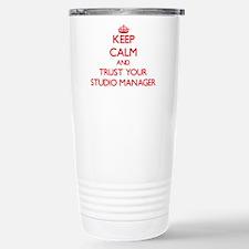 Keep Calm and trust your Studio Manager Travel Mug