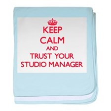 Keep Calm and trust your Studio Manager baby blank