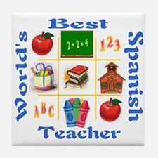 Spanish teacher Tile Coaster