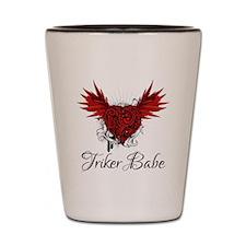 Triker Babe Shot Glass