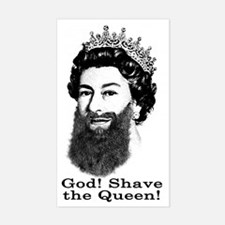 God! Shave the Queen! Decal
