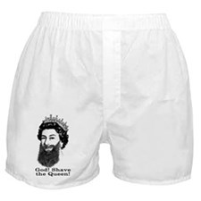 God! Shave the Queen! Boxer Shorts