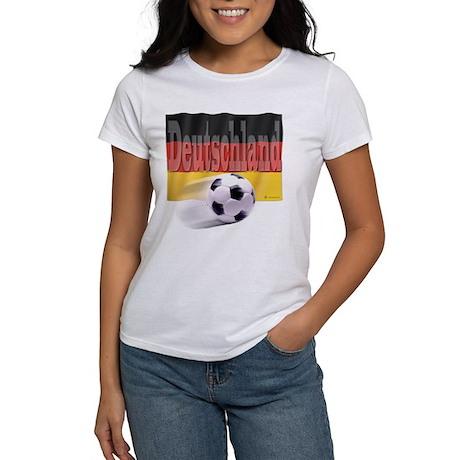 Soccer Flag Deutschland Women's T-Shirt
