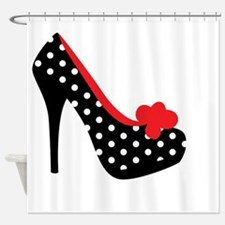 High Heels Lady Shoes Shower Curtain