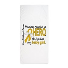 Childhood Cancer HeavenNeededHero1 Beach Towel