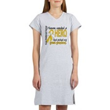 Childhood Cancer HeavenNeededHe Women's Nightshirt