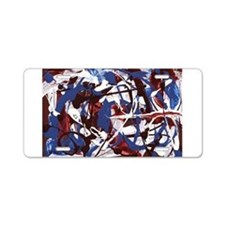 Red, White and Blue Abstract Aluminum License Plat