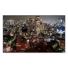 tokyo skyscrapers Decal