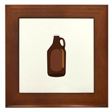 Beer Growler Jug Framed Tile