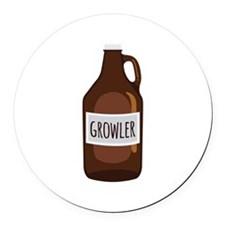 Growler Round Car Magnet