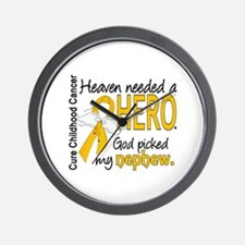 Childhood Cancer HeavenNeededHero1 Wall Clock