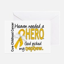 Childhood Cancer HeavenNeededHero1 Greeting Card