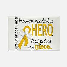 Childhood Cancer HeavenNeededHero Rectangle Magnet
