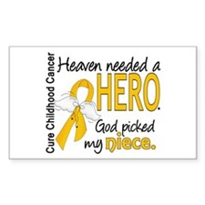 Childhood Cancer HeavenNeededH Decal