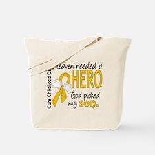 Childhood Cancer HeavenNeededHero1 Tote Bag