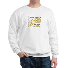 Childhood Cancer HeavenNeededHero1 Sweatshirt