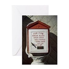 Vintage Fire Greeting Card