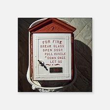 "Vintage Fire Square Sticker 3"" x 3"""