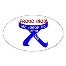 TKD Mom Son Oval Decal