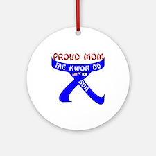 TKD Mom Son Ornament (Round)