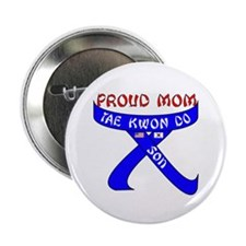 """TKD Mom Son 2.25"""" Button (100 pack)"""