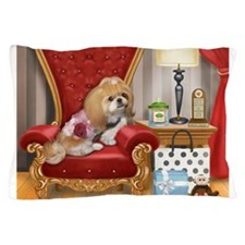 Shih Tzu Mocha Living Room Pillow Case