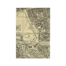 Regency London Map - Grosvenor Sq Rectangle Magnet