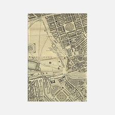 Regency London Map - Grosvenor Sq Rectangle Magnet