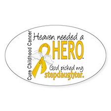 Childhood Cancer HeavenNeededHero1 Decal