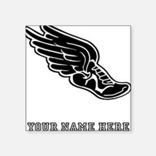 Custom Winged Running Shoe Sticker