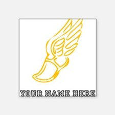 Custom Gold Running Shoe With Wings Sticker