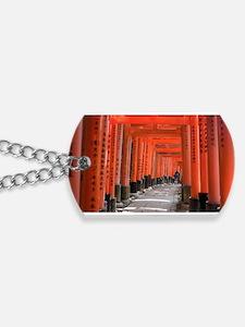 torii gate passageway Dog Tags