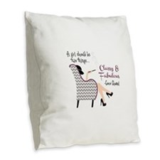 Classy Fabulous Burlap Throw Pillow